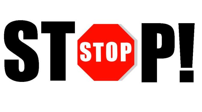 WHEN STOP! PUSHES YOU TO GO!…