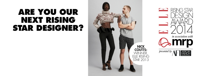 ENTER ELLE RISING STAR DESIGNER 2014
