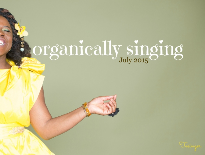 TOSINGER ANNOUNCES THE RELEASE OF HER DEBUT STUDIO ALBUM 'ORGANICALLY SINGING'